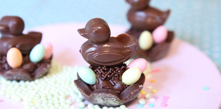 Pâques : un nid de fritures en chocolat