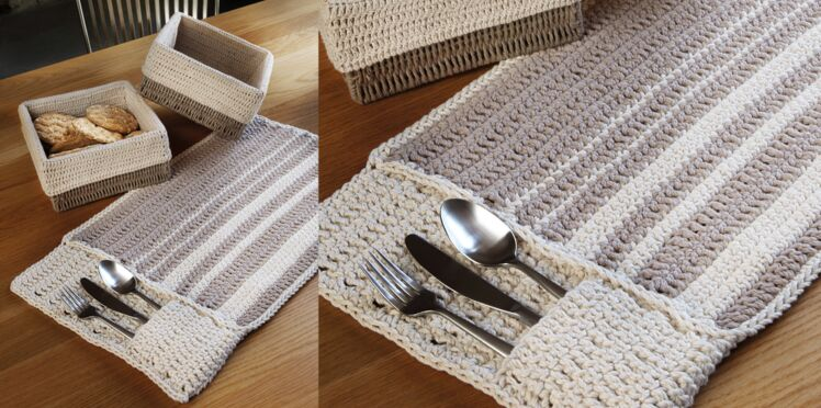 Un set de table au crochet