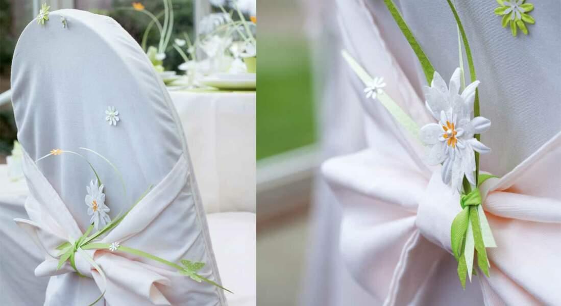 Le décor de chaise mariage