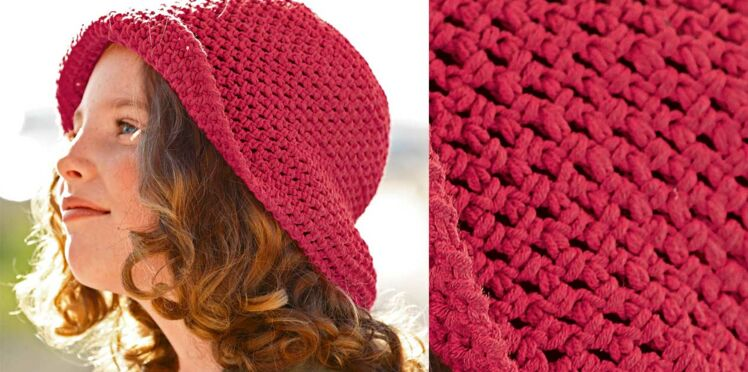 Un chapeau pour fillette au crochet