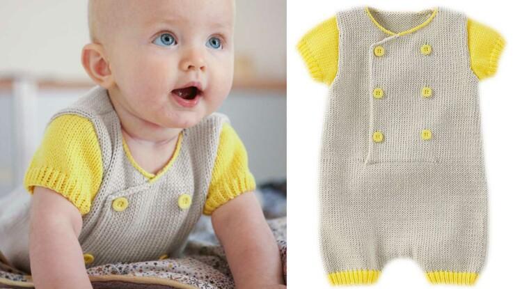 Tricot   tous nos modèles pour bébé   Femme Actuelle Le MAG af07cfad710