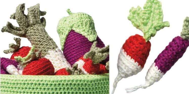 Les 5 légumes au crochet