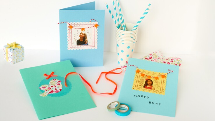 Une carte d'invitation pour l'anniversaire d'une petite fille