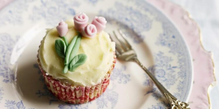 Cupcake délicieux au safran