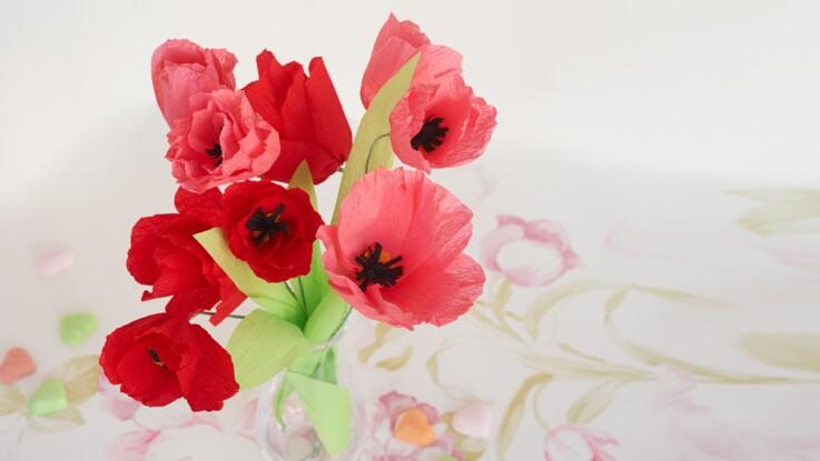 Des Fleurs En Papier Crepon Femme Actuelle Le Mag