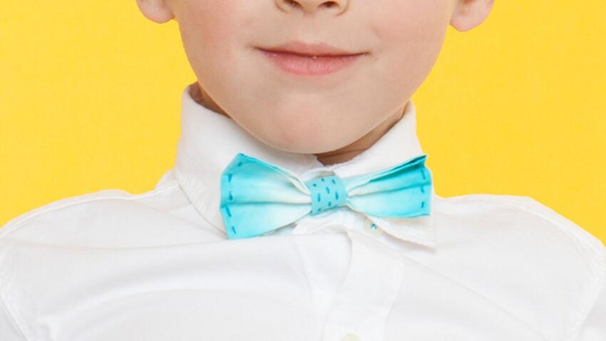 Un noeud papillon tie & dye pour enfant