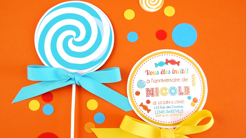 Une carte d'invitation originale pour un anniversaire