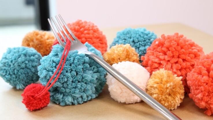 Faire un pompon avec une fourchette