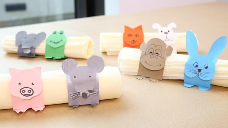 Ronds de serviette marque-places en papier