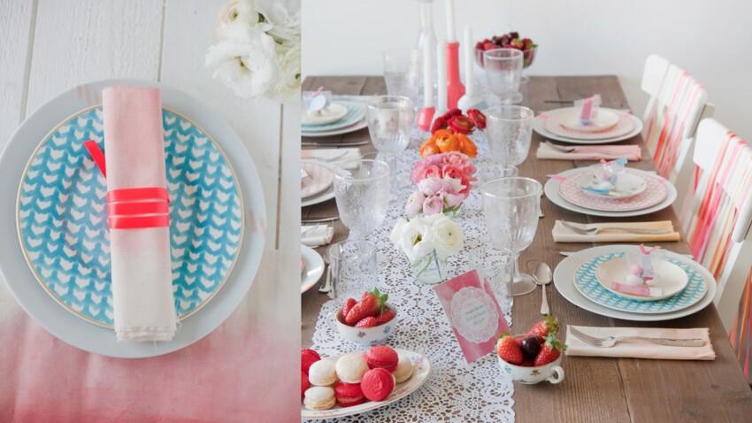 Une table de fête en tie & dye