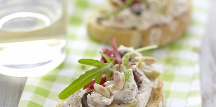 Crostini à l'italienne aux olives