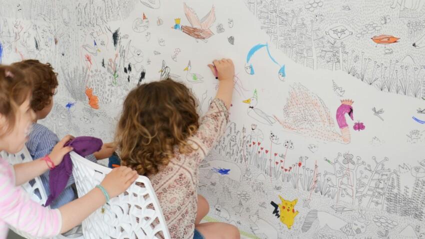 Idée pour un anniversaire d'enfant : un coloriage exposé
