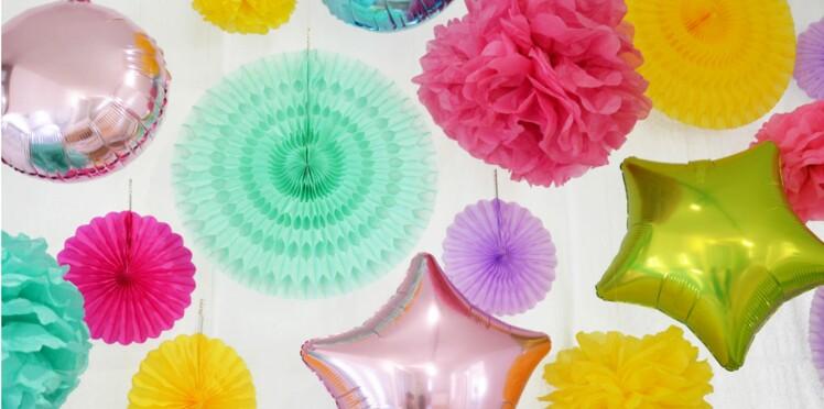 Idée de déco d'anniversaire : le mur de ballons