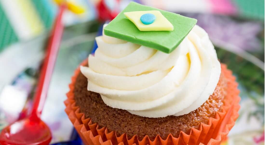 Le drapeau brésilien en pâte à sucre