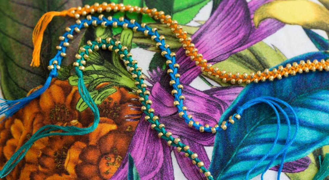 Des bracelets brésiliens à perles