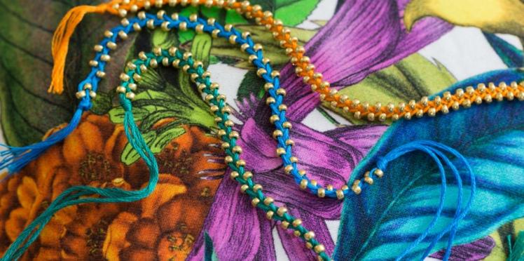 Bracelet brésilien : un modèle tressé à perles