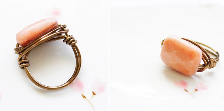 Bijoux fait main : une bague en fil de cuivre