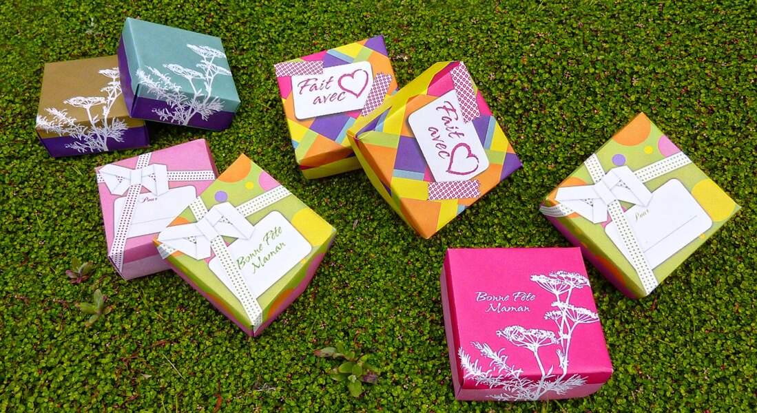Des boîtes cadeaux pour fêter les mamans