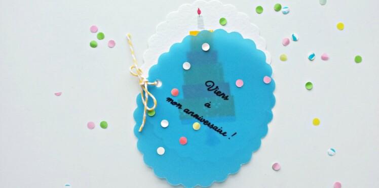 Carte d'invitation surprise pour un anniversaire