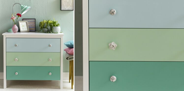 Relooking : une commode pastel