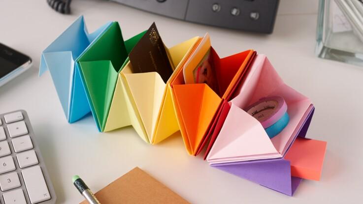 Un rangement de bureau en origami