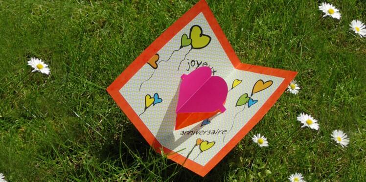 Carte pop-up de joyeux anniversaire à imprimer