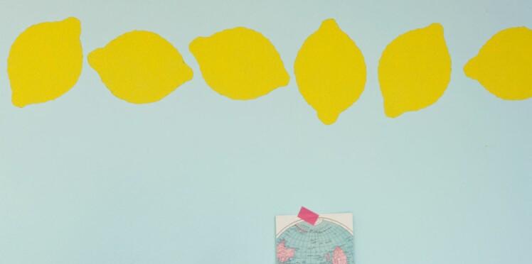 Pochoir déco : une frise murale