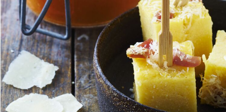 Polenta gratinée au jambon de pays