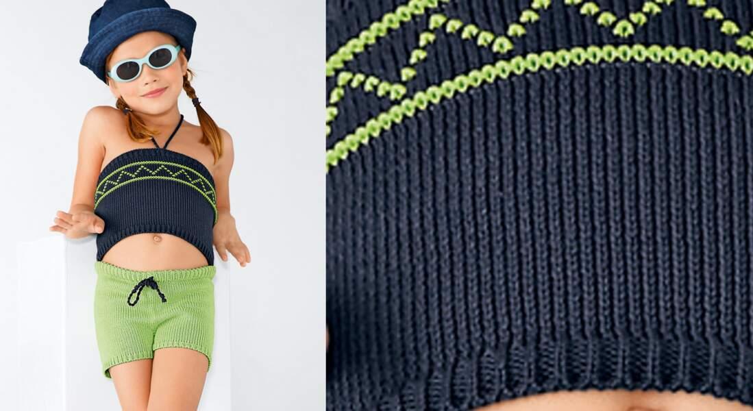 Le top et son short tricotés