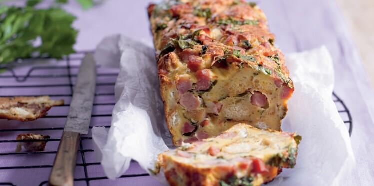 Cake moelleux au jambon et au gorgonzola