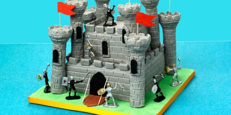 Un château en pâte à sucre
