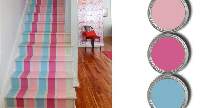Une peinture trompe-l'oeil pour mon escalier