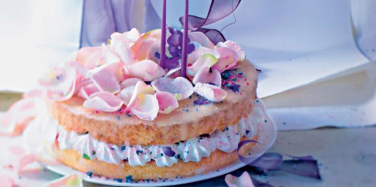 Gâteau aérien à la violette