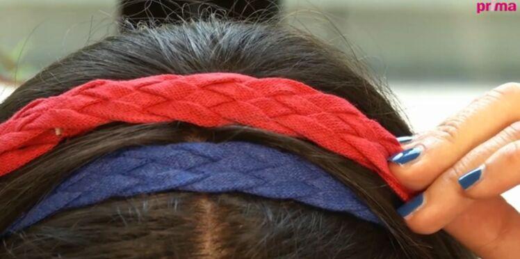 Un headband tressé à cinq brins
