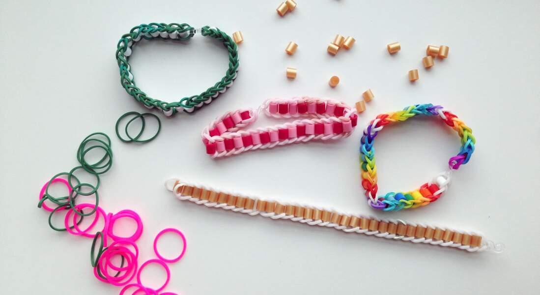 Des bracelets Rainbow Loom avec des perles à repasser
