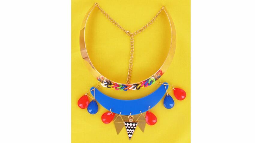 Un collier pop-art façon Rainbow Loom