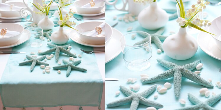 Une déco de table inspirée de la mer