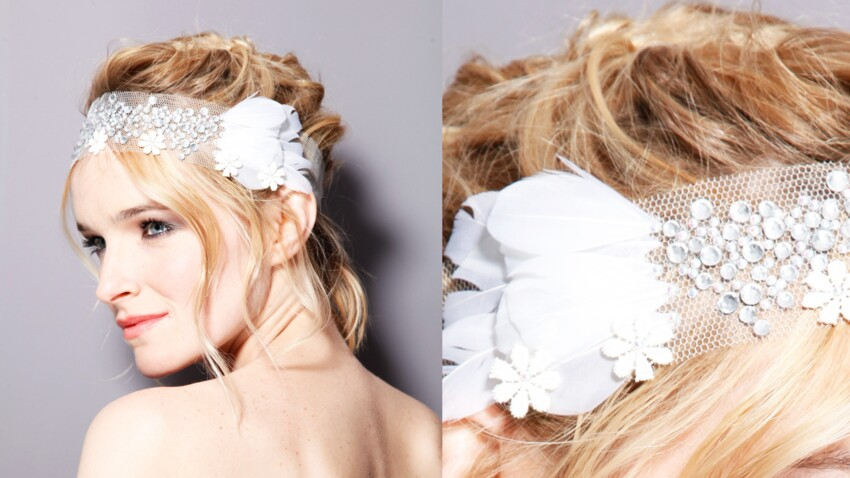 Un headband fleur façon diadème
