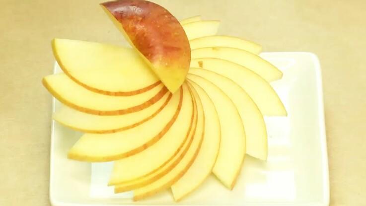 Cuisine créative : une fleur de pomme