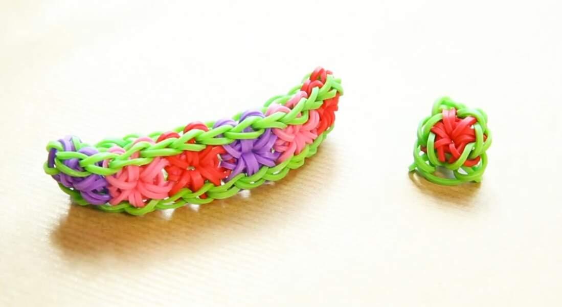 Bracelet élastiques Rainbow Loom : la fleur ou Starburst