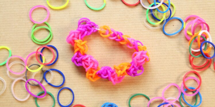 Bracelet élastique Rainbow Loom : le zig zag