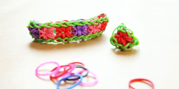 Bracelet élastique Rainbow Loom : la fleur ou Starburst