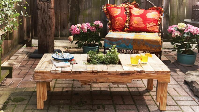 Déco récup : une table basse avec une palette