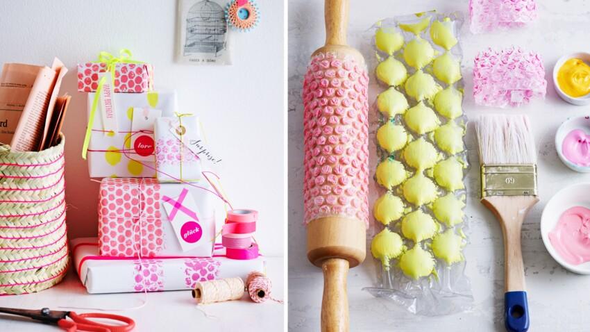 Peinture : du papier bulle pour faire un tampon