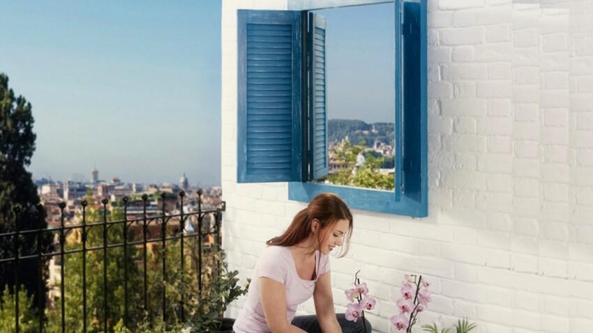 Idée déco : une fausse fenêtre sur mon balcon
