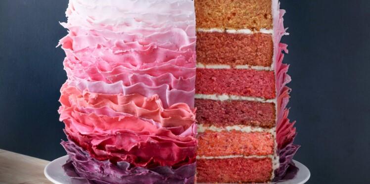 Un rainbow cake girly
