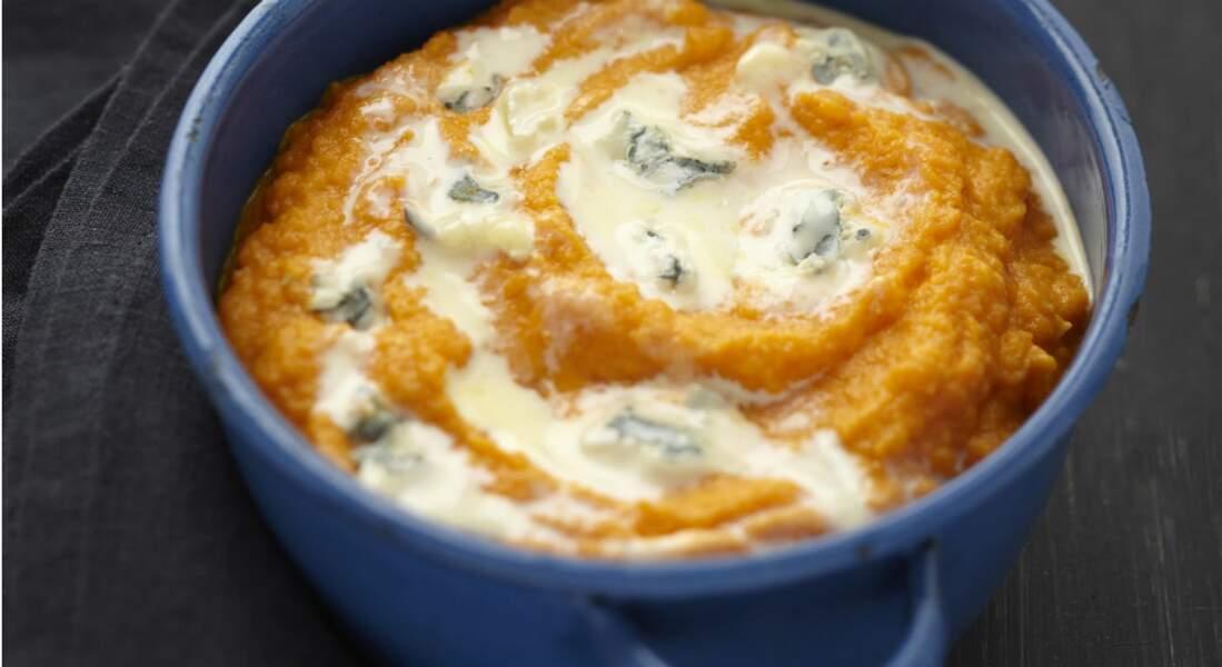 Purée de carotte au bleu
