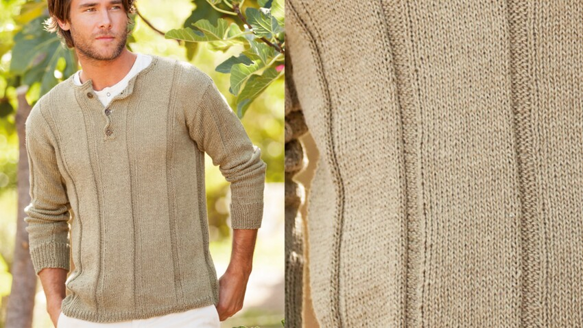 Le pull col tunisien homme