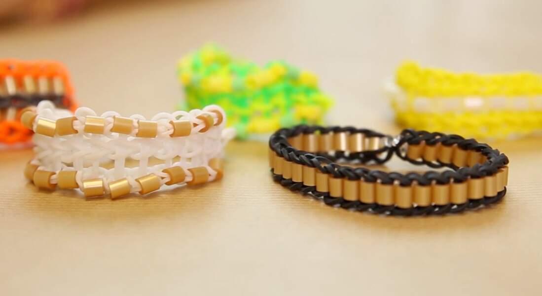 Un bracelet triple simple avec des perles
