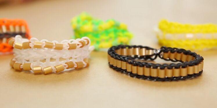 Rainbow Loom : tuto du bracelet triple simple à perles